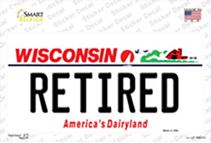 Retired Wisconsin Wholesale Novelty Sticker Decal