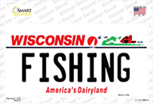 Fishing Wisconsin Wholesale Novelty Sticker Decal