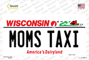 Moms Taxi Wisconsin Wholesale Novelty Sticker Decal
