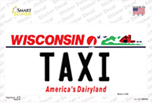 Taxi Wisconsin Wholesale Novelty Sticker Decal