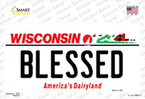 Blessed Wisconsin Wholesale Novelty Sticker Decal