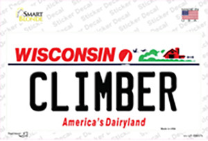 Climber Wisconsin Wholesale Novelty Sticker Decal