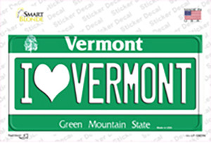 I Love Vermont Wholesale Novelty Sticker Decal