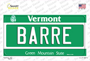 Barre Vermont Wholesale Novelty Sticker Decal