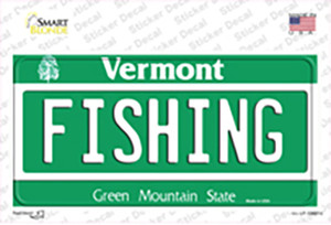 Fishing Vermont Wholesale Novelty Sticker Decal