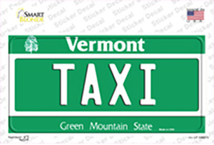 Taxi Vermont Wholesale Novelty Sticker Decal