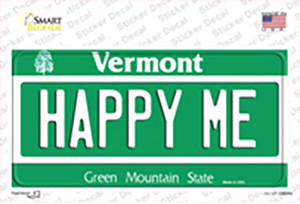 Happy Me Vermont Wholesale Novelty Sticker Decal
