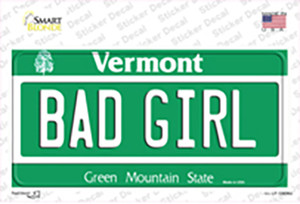 Bad Girl Vermont Wholesale Novelty Sticker Decal