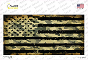 Camo American Flag Wholesale Novelty Sticker Decal