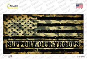 Camo American Flag Support Troops Wholesale Novelty Sticker Decal