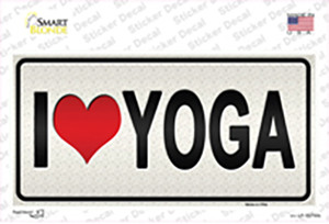 I Love Yoga Silver Wholesale Novelty Sticker Decal