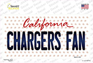 Chargers Fan California Wholesale Novelty Sticker Decal