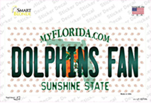 Dolphins Fan Florida Wholesale Novelty Sticker Decal