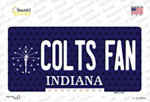 Colts Fan Indiana Wholesale Novelty Sticker Decal