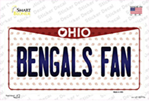 Bengals Fan Ohio Wholesale Novelty Sticker Decal