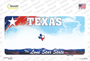 Texas New State Wholesale Novelty Sticker Decal