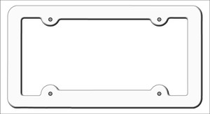 White Solid Wholesale Novelty Metal License Plate Frame LPF-000