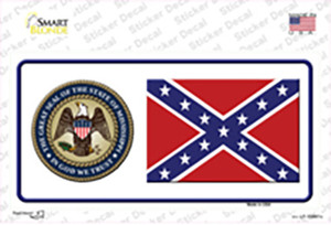 Confederate Flag Mississippi Seal Wholesale Novelty Sticker Decal