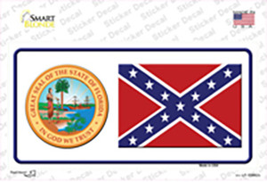 Confederate Flag Florida Seal Wholesale Novelty Sticker Decal