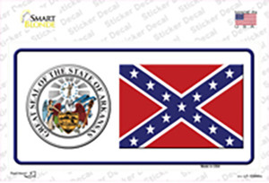 Confederate Flag Arkansas Seal Wholesale Novelty Sticker Decal