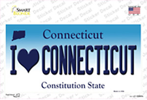 I Love Connecticut Wholesale Novelty Sticker Decal