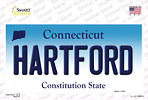 Hartford Connecticut Wholesale Novelty Sticker Decal
