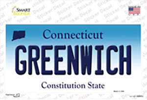Greenwich Connecticut Wholesale Novelty Sticker Decal