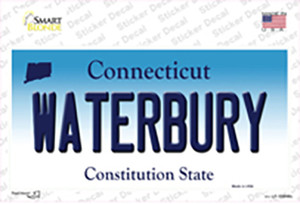 Waterbury Connecticut Wholesale Novelty Sticker Decal