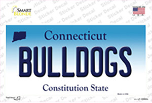 Bulldogs Connecticut Wholesale Novelty Sticker Decal