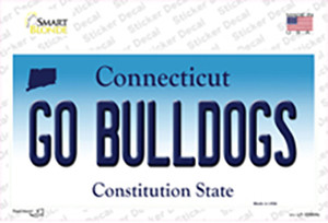 Go Bulldogs Connecticut Wholesale Novelty Sticker Decal