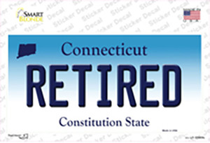 Retired Connecticut Wholesale Novelty Sticker Decal