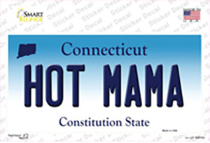 Hot Mama Connecticut Wholesale Novelty Sticker Decal