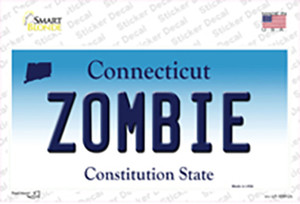 Zombie Connecticut Wholesale Novelty Sticker Decal