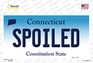 Spoiled Connecticut Wholesale Novelty Sticker Decal