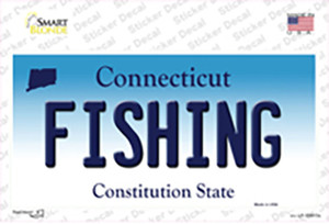 Fishing Connecticut Wholesale Novelty Sticker Decal