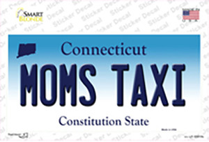 Moms Taxi Connecticut Wholesale Novelty Sticker Decal
