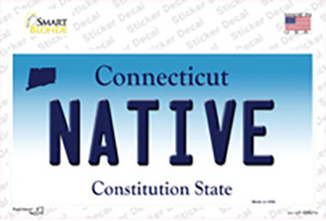 Native Connecticut Wholesale Novelty Sticker Decal
