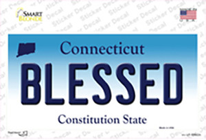 Blessed Connecticut Wholesale Novelty Sticker Decal