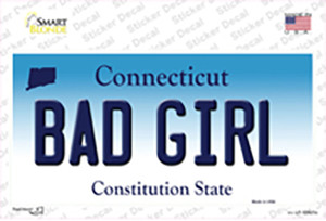 Bad Girl Connecticut Wholesale Novelty Sticker Decal