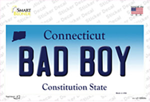 Bad Boy Connecticut Wholesale Novelty Sticker Decal