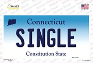 Single Connecticut Wholesale Novelty Sticker Decal