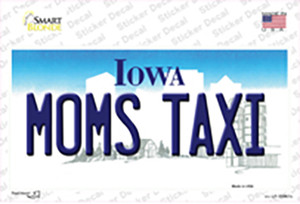 Moms Taxi Iowa Wholesale Novelty Sticker Decal