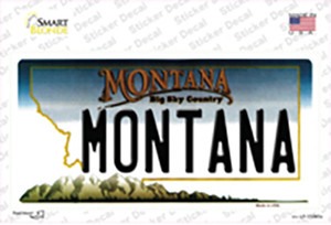 Montana State Background Wholesale Novelty Sticker Decal