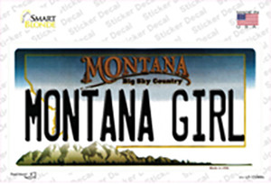 Montana Girl State Wholesale Novelty Sticker Decal
