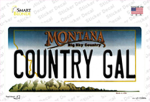 Country Gal Montana State Wholesale Novelty Sticker Decal