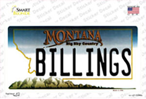 Billings Montana State Wholesale Novelty Sticker Decal