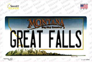 Great Falls Montana State Wholesale Novelty Sticker Decal