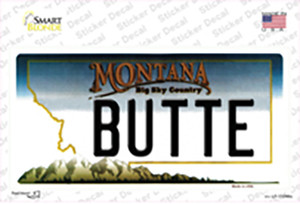 Butte Montana State Wholesale Novelty Sticker Decal