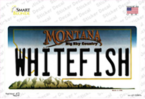 Whitefish Montana State Wholesale Novelty Sticker Decal