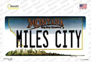 Miles City Montana State Wholesale Novelty Sticker Decal